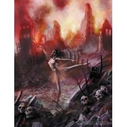 "Fall of Cthulhu - Nuclear Ballerina 8.5"" x 11"" print**"