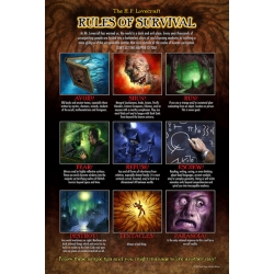 """H.P Lovecraft's Rules of Survival 12"""" x 17"""" poster"""